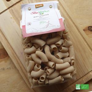 Pâtes traditionnelle Rigatoni bio Demeter, Origine Italie