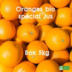 Box 5kg d'Oranges bio à jus, en Circuit Court Producteurs & Coopératives bio