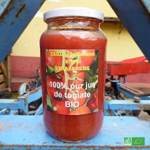 Jus de tomates bio de la ferme GANZAU à Strasbourg Neuhof