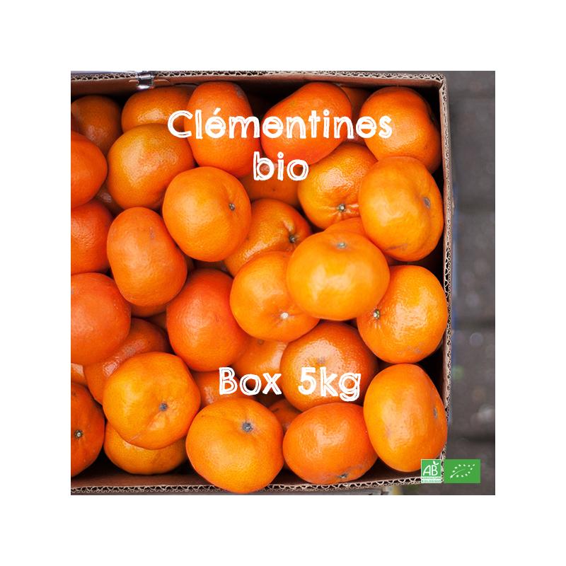 Box Clémentines bio appellation Azahar en Circuit Court Arboriculteurs bio d'Espagne