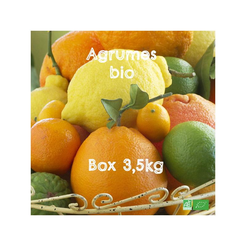 Petite Box d'Agrumes bio pour Petite Tribu, en Circuit Court Arboriculteurs bio d'Europe du Sud