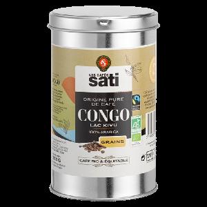 Café bio en grains du Congo, Lac Kivu / Label bio AB & Max Havelaar / Cafés bio SATI