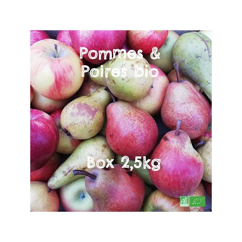Mélange de Pommes & Poires bio d'Alsace et Moselle, en Circuit Court Producteurs bio locaux