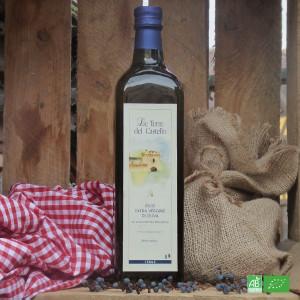Huile d'olive bio extra vierge de la maison Le Terre del Castello en Italie