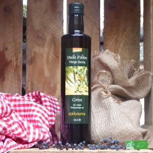 Huile d'olive bio extra vierge 50cl de la maison Epikouros en Grèce