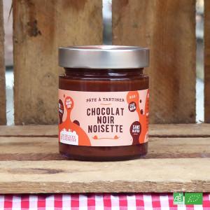 Pâte à tartiner bio Chocolat noir et Noisette - Fabrication artisanale française - Les Délices de l'Ogresse