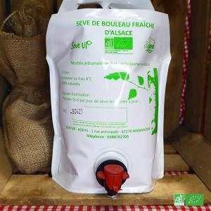 Sève de bouleau bio fraîche d'Alsace