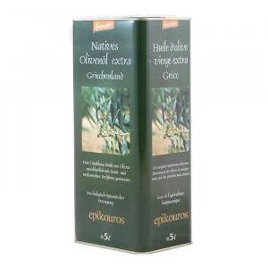 Huile d'olive bio DEMETER extra vierge 5 Litres de la maison Epikouros en Grèce