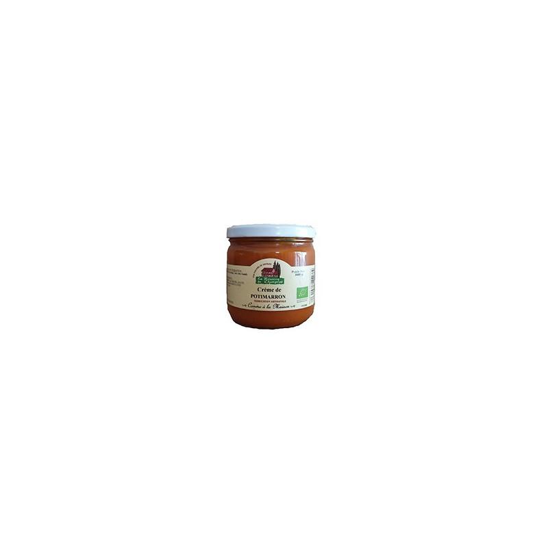 Crème de Potimarron (Ecocert) de la Réserve de Champlat, conserverie artisanale partenaire de MaFermeBio Alsace Moselle
