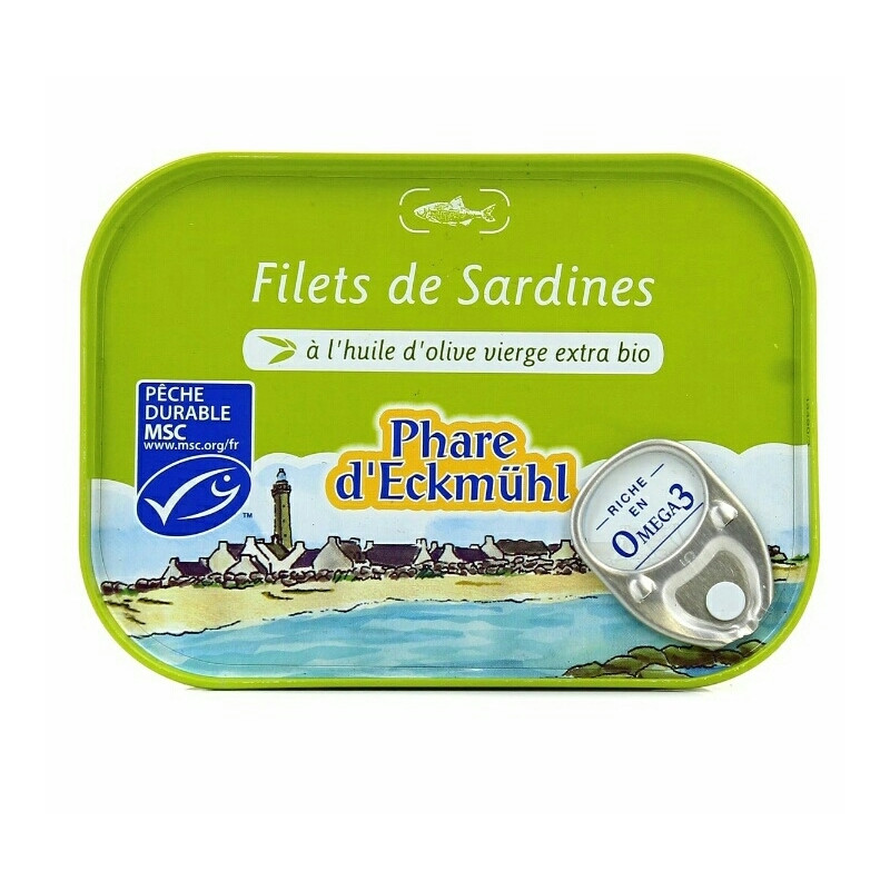 Conserve de Sardines à l'huile d'olive extra vierge bio