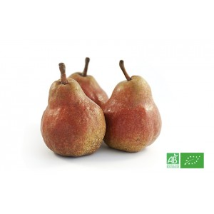 Poire William rouge bio Red Bartlett d'Argentine, producteur bio partenaire de VEGETAL RESPEKT