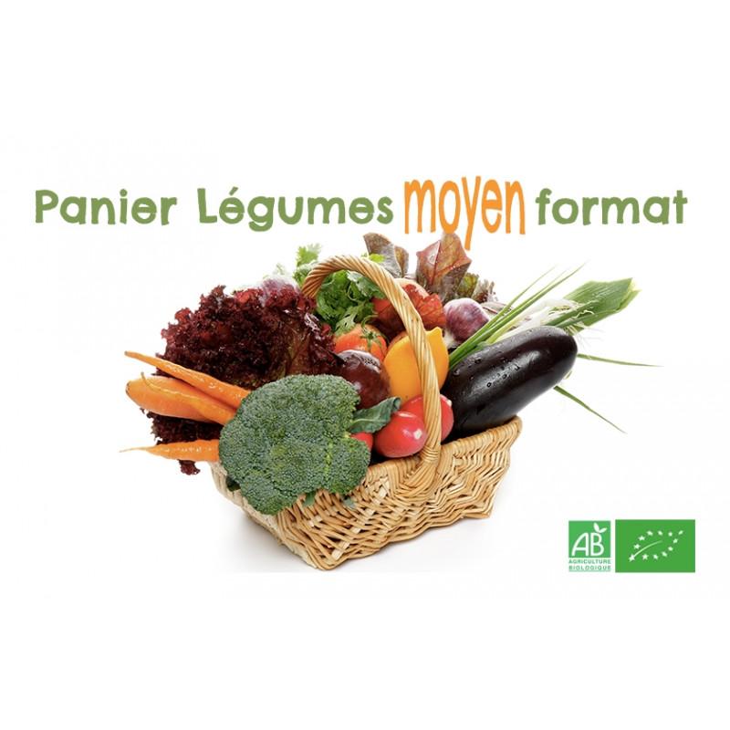 Commandez en ligne ce panier Légumes bio moyen format; Livraison GRATUITE sur points relais en Alsace Moselle Strasbourg
