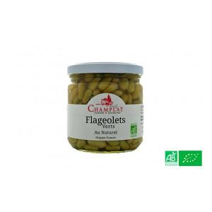 Flageolets verts au naturel, de la maison Champlat, épicerie bio en Alsace Lorraine