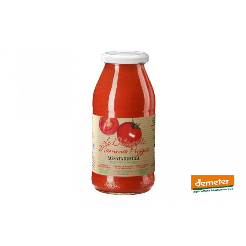 Coulis de tomates Demeter à la paysanne de la maison Terre Di San Georgio