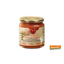 Sauce tomate Demeter à l'olive et au thon, de la maison Terre Di San Georgio