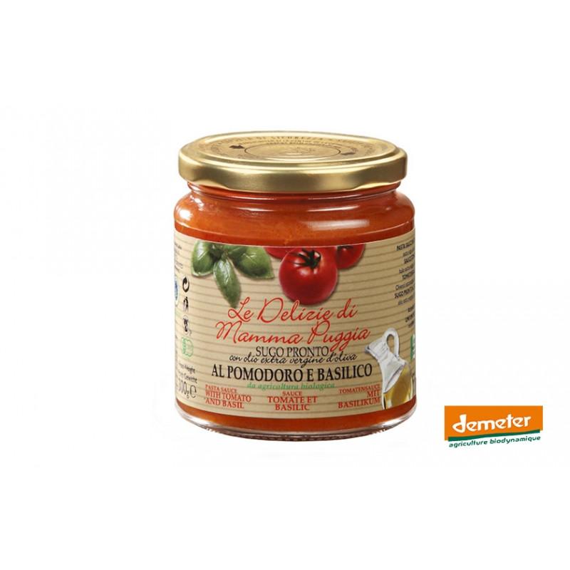 Sauce tomate Demeter au basilic de la maison Terre Di San Georgio