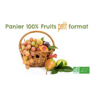 Panier Fruits bio petit format n°1, sélection de notre ferme maraicher bio en Alsace Moselle