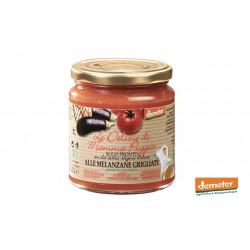 Sauce tomates bio Demeter aux aubergines grillées de la conserverie bio TERRE DI SAN GIORGIO en Italie