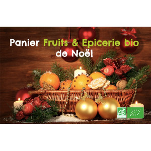 Panier Fruits & Epices bio de Noël en direct du producteur bio en Alsace Moselle, Magasin bio