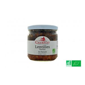 Lentilles vertes au naturel, de la maison Champlat, épicerie bio en Alsace Lorraine